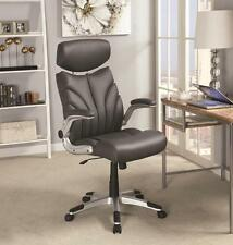 High Back Executive  Managerial Gray Office Chair with Arms by Coaster 800164