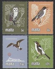 Malta 1981 Birds/Nature/Owl/Petrel/Shrike/Warbler/Raptor/Animation 4v set n35906