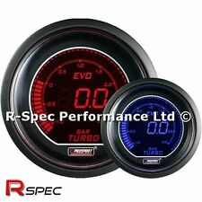 GENUINE Prosport 52mm Evo Blue / Red Display LCD Digital Turbo Boost Gauge - BAR