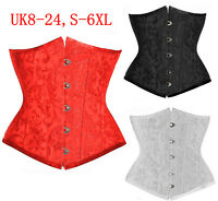 Free Ship Sexy Floral Pattern Brocade Underbust CORSET Waspie LINGERIE UK 6-24