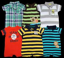 BABY Boy 9 months 12 month Carters one piece rompers outfits Clothes Lot