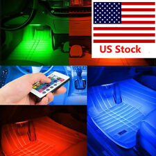 "4 x 12"" RGB 7 Color LED Knight Rider Scanner Car Interior Lighting Bar + Remote"