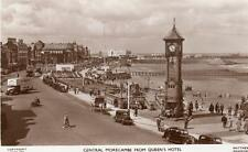Central morecambe from Queen's Hotel RP old pc used 1952 Matthews