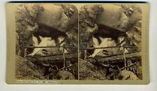THURLOW vintage stereoview NEW PIKE's PEAK TRAIL Colorado SHELTERED FALLS Photo