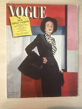 "VOGUE Magazine US October 15,1942 ""Your money's worth"" Collection Vintage Mode"