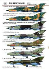 Hungarian Aero Decals 1/48 MIKOYAN MiG-21 MF/bis/UM Jet Fighter