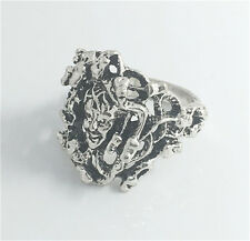 Vintage Woman 316L Stainless Steel Vogue Design Mini Skull Ring Size 11  HOT