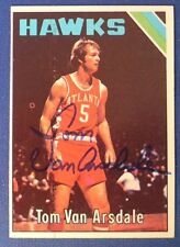 DICK VAN ARSDALE signed 1975-76 Topps Phoenix Suns