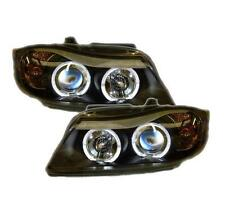 BMW 3 series E90 E91 05-08 Black Twin Angel Eye Headlights