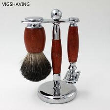 New Arrival Wood Pure Badger Shaving Brush and Safety Razor set