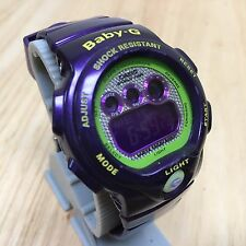 Casio Baby G-Shock BG-1005M Purple LCD Alarm Chrono Quartz Watch Hour~New Batter