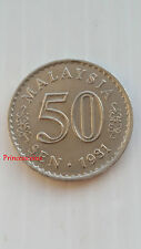 1981*A-UNC*MALAYSIA 50 SEN FIFTY CENT COIN-KM#5.3