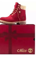 """Timberland 6"""" Premium Construction Naughty or Nice Red Woman's Size 7"""