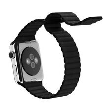 Magnet Replace Leather Milanese Stainless Loop Steel Strap Band for Apple Watch