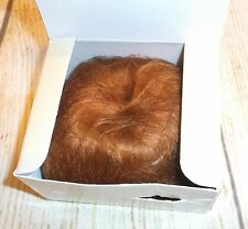 Carrot RED genuine MOHAIR Vintage/Antique style DOLL WIG size 12-13 BABS wee 3