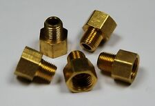"Brass Fittings: Inverted Flare Connector, Male Pipe 1/8"", Tube OD 5/16"", QTY. 5"