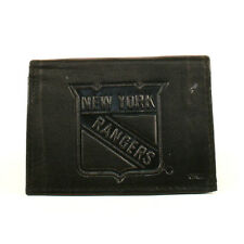 New York Rangers Black Leather Tri-fold Wallet
