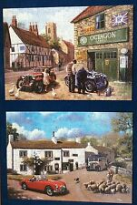 OLD FRIENDS BY KEVIN WALSH 2 X 500 PIECE GIBSONS CAR THEMED JIGSAWS COMPLETE
