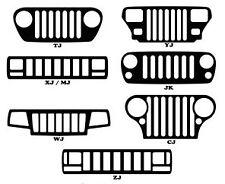 Jeep Grill Window Decal Sticker JK TJ XJ WJ ZJ YJ MJ CJ 47 Color Options