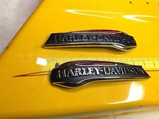 Genuine Harley Free Wheeler Trike Touring Softail Dyna Gas Fuel Tank Emblems Set