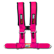 50 Caliber Racing Seat Belt Harness Pink 2in 4 Point Polaris Ranger RZR UTV ACE