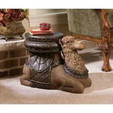 "Design Toscano The Kasbah Camel Hand Painted Resin 16"" Sculptural Side Table"