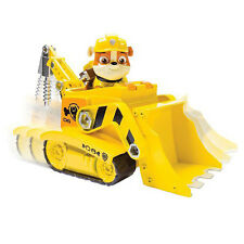 Paw Patrol Rubble Digg'n Bulldozer Construction Vehicle Car w Mini Figure Toy 3+