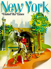 Central Park New York United States America Travel Advertisement Poster 13