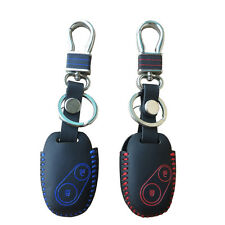 For Honda Civic 2 Button Key Cover Chain Genuine Leather Hand Sewed FOB Case Kit