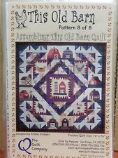 THIS OLD BARN QUILT COMPLETE SET OF 8 QUILT PATTERNS, From The Quilt Company NEW