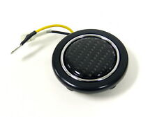 "BLACK CARBON FIBER UNIVERSAL 2"" RACING STEERING WHEEL HORN BUTTON"