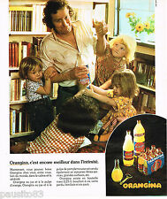 PUBLICITE ADVERTISING 065  1974  ORANGINA  boisson à la pulpe d'orange