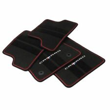 23283734 Black Premium Carpet Floor Mats 2016 2017 Camaro Red Outline OEM GM