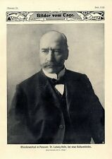 Ministerwechsel in Preussen Dr.Ludwig Holle neuer Kultusminister v.Moltke...1907
