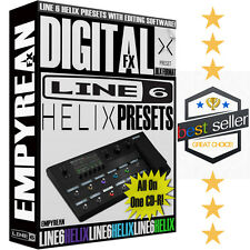 Line 6 Helix Presets Guitar Effects Patches Artist Tones & Amp Settings WIN MAC