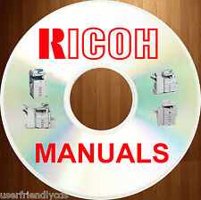 RICOH Black White Analog Copiers SERVICE MANUALS & PARTS MANUAL CATALOG on a DVD