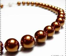"""7-8mm Chocolate Akoya Cultured Pearl Necklace 18"""""""