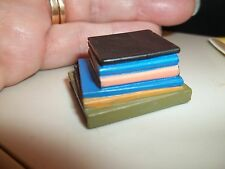 STACK  OF BIG BOOKS - RESIN - DOLL HOUSE MINIATURE