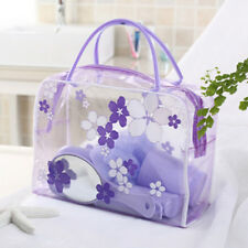 Clear PVC Flower Waterproof Makeup Toiletry Travel Wash Cosmetic Bag Pouch WBUS