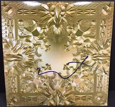 KANYE WEST SIGNED WATCH THE THRONE VINYL ALBUM RECORD AUTOGRAPH YEEZY JAY-Z COA