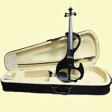 Light Black 4/4 Electric Violin Fitted Full Size Violin Full SET Student Violin