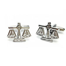 Silver Coloured Scales of Justice Cufflinks in Gift Box lawyer barrister PSN086