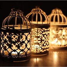 Metal Round Moroccan Votive Candle Holder Hanging Lantern Home Wedding Decor