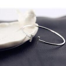Hot Sale Women Fashion Zircon Crystal Open Cuff Bangle Bracelet Jewelry 3 Style