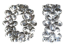 ONE STERLING SILVER SPACER BEAD WITH FLOWER DESIGN AND LARGE HOLE, 7 X 3 MM