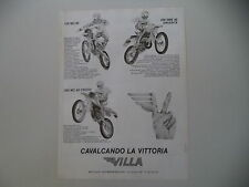 advertising Pubblicità 1982 MOTO VILLA 125 MC/250 MC CROSS/250 SME ARGENTA