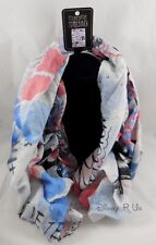 New DC Comics Suicide Squad Harley Quinn Diamond Doodle Sheer Viscose Neck Scarf