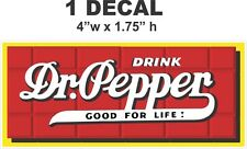 1 Vintage Style Drink Dr Pepper Good For Life Rectangle Vinyl Decal