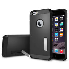 Tough Armor Hybrid Case Cover With Kickstand For iPhone 6/6S 4.7 (Smooth Black)