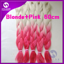 Blonde Pink Ombre Kanekalon Jumbo Braiding Synthetic Hair Extension Twist Braids